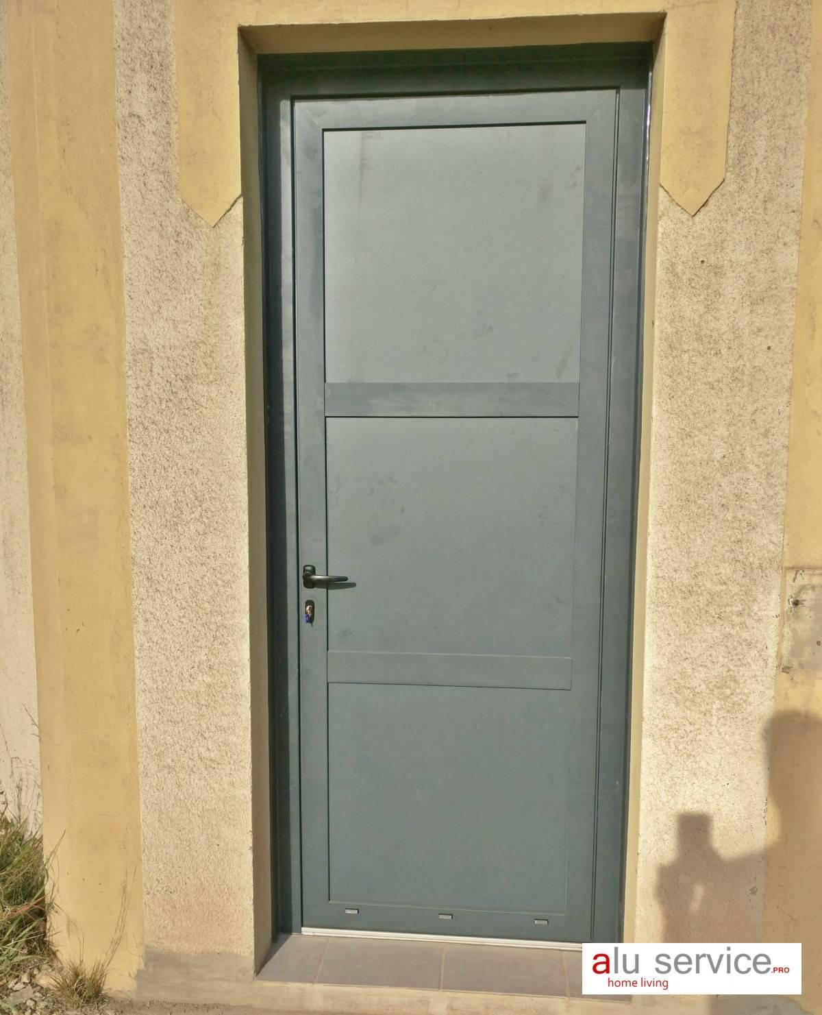 Porte Entree Vitree Opaque porte d'entree aluminium sur martigues et les environs