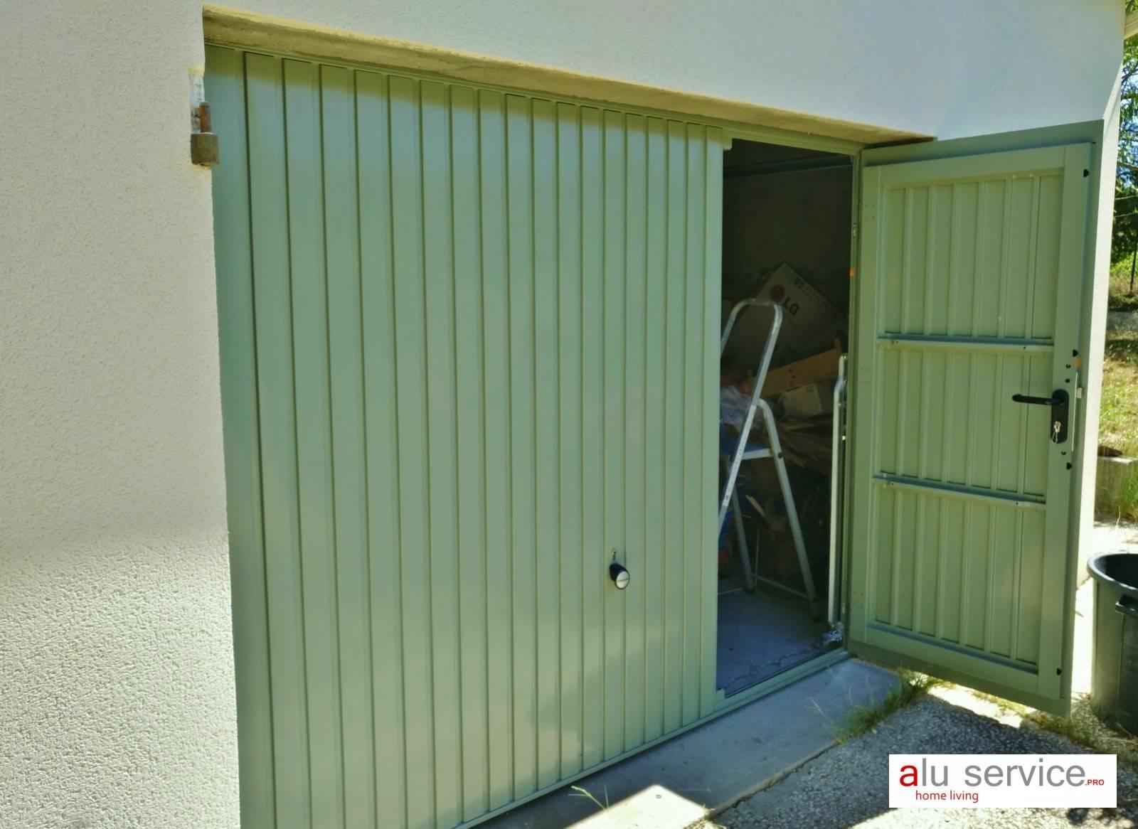 R alisation porte de garage basculante avec portillon hormann martigues pose de moustiquaire - Porte garage basculante sur mesure ...