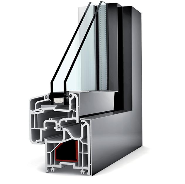 Fen tre isolante bepos rt2020 pvc capotage aluminium sur for Fenetre double vitrage alu