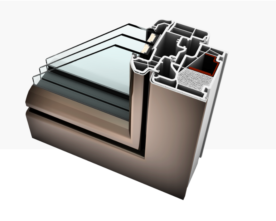 Fen tre isolante bepos rt2020 pvc capotage aluminium sur for Fenetre isolante